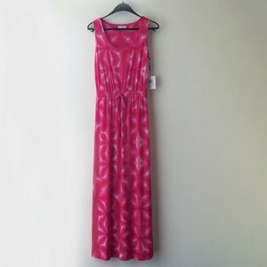 NWT Calvin Klein Maxi Tie-Die Dress